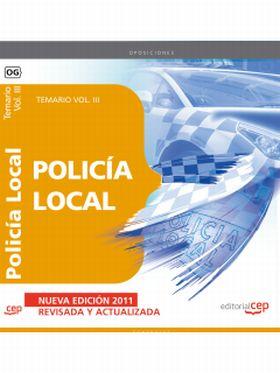 POLICIA LOCAL. TEMARIO VOL. III.