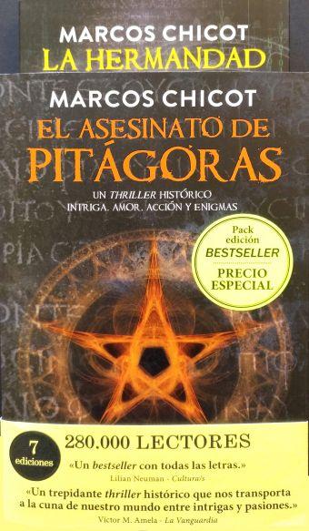 PACK REGALO EL ASESINATO DE PITAGORAS Y LA HERMAND