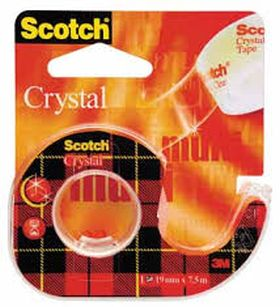 PORTAROLLO CELLO SCOTCH CRYSTAL 19X7.5 CON DISPENSADOR 3M - SCOTCH