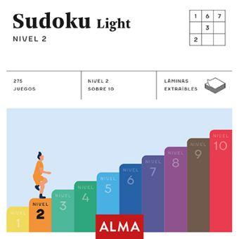 SUDOKU LIGHT. NIVEL 2 (CUADRADOS DE DIVERSIÓN) ALMA PUZZLES